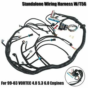 Complete Standalone Wiring Harness W T56 For 99 03 Vortec 4 8 5 3 6 0 Engines