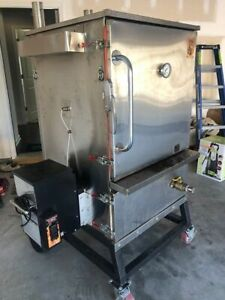 Custom built Stumpville Dual Fuel Barbeque Smoker On Wheels For Sale In South Ca