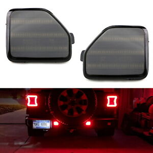 Smoked Lens Full Led Rear Bumper Reflector Light Kit For 18 up Jeep Wrangler Jl