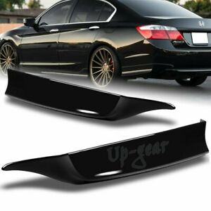 For 2013 2015 Honda Accord 4dr Painted Black Hfp Style Rear Bumper Spoiler Lip