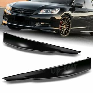 For 2013 2015 Honda Accord 4dr Black Pu Hfp Style Front Bumper Spoiler Lip