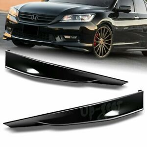 For 2013 2015 Honda Accord 4dr Painted Black Hfp Style Front Bumper Spoiler Lip