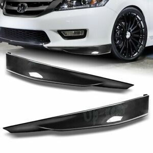 For 2013 2015 Honda Accord 4dr Carbon Look Hfp Style Front Bumper Spoiler Lip