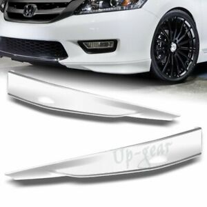 For 2013 2015 Honda Accord 4dr Painted White Hfp Style Front Bumper Spoiler Lip