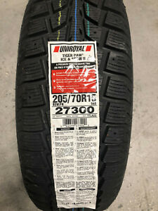 4 New 205 70 15 Uniroyal Tiger Paw Ice Snow Ii Winter Tires