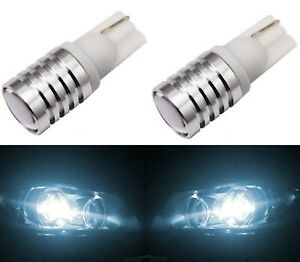 Led Light 5w 194 White 6000k Two Bulbs Front Side Marker Parking Replace Jdm T10