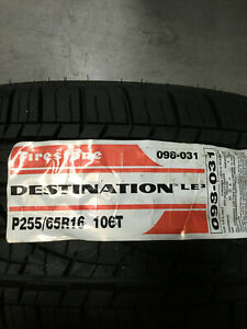 2 New 255 65 16 Firestone Destination Le2 Tires