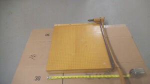 Vintage Ingento Solid Maple Paper Cutter 18 Used