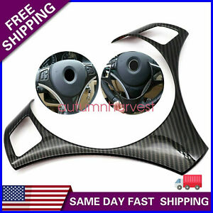 Carbon Fiber Steering Wheel Trim Cover Fit For Bmw E90 E92 M3 M Sport