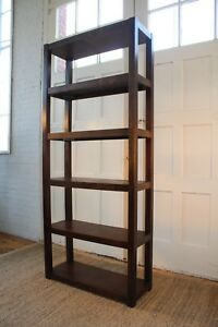 Mid Century Five Tier Walnut Veneer Bookcase Bookshelf 80