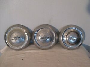 Chevy Vintage Oem Bowtie Hot Rod Truck Dog Dish Poverty Hubcap Used Rat Rod