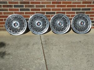 81 82 83 84 85 Rwd Buick Wire Hubcap Fits 15 Inch Wheels Nice