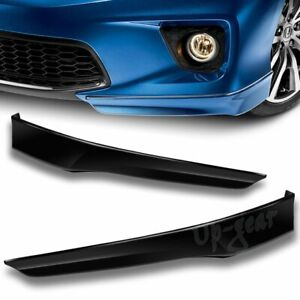 For 2013 2015 Honda Accord Coupe Black Pu Hfp Style 2pc Front Bumper Spoiler Lip