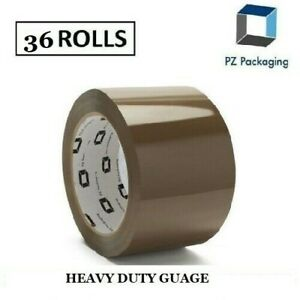 36 Rolls Brown Tape Packing Sealing Carton Box Packaging 2 X 110 Yard Thickness