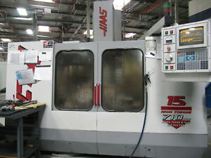 1997 Haas Vf 4 Cnc Mill Vertical 50 x20 Milling 4th axis Ready 15hp 20 atc