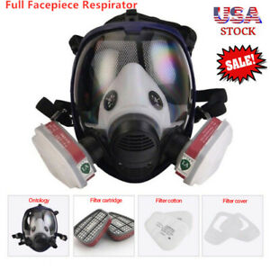 Full Face Respirator Dust Gas Mask For Painting Spray Chemical Pesticide For 3m