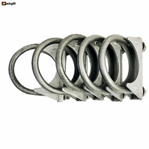 5x Universal 1 1 2 O D Exhaust Hanger Muffler U Bolt Clamp Mild Steel 1 5 New