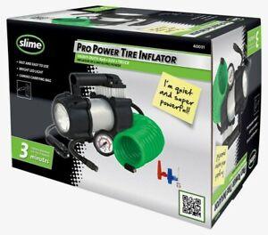 Slime Pro Power Tire Inflator 12 Volt 150 Psi 3 Minutes Carrying Bag Easy 40031
