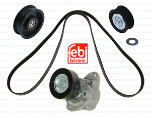 Drive Belt Kit With Tensioner Assembly 2 Idler Pulleys Brand New For Mercedes