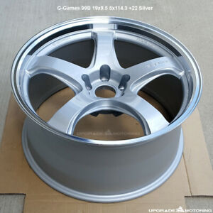 G games 99b 19x9 5 5x114 3 22 Silver Wheel New Single By Rays Engineering