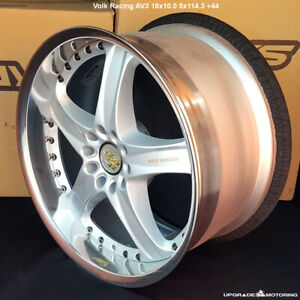 Volk Racing Av3 18x10 0 5x114 3 44 Silver New Single Wheel fit 300zx Supra Rx7