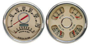 1952 Ford Pickup Truck New Vintage Gauge Kit Woodward Series With Tachometer