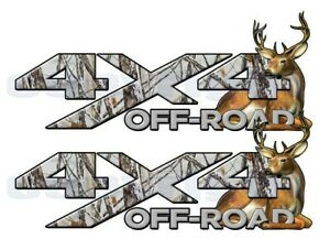 4x4 Off Road Truck Decals Snowstorm Camo Deer Buck Vinyl Graphics Ft Ssfbu 13