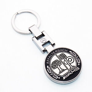 New 3d Mercedes Benz Amg Sport Logo Alloy Car Home Keychain Ring Decoration Gift