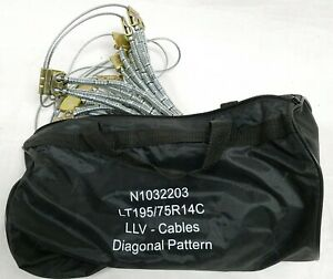 Bag Of 2 Tire Tensioner Cables Snow Chains Lt195 75r14c N1032203 New