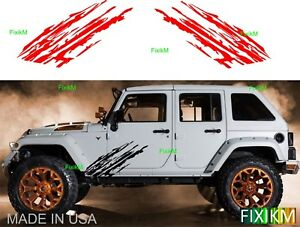 Vinyl Graphics Mud Splash Off Road Side Decal Cars Trucks Suv Trailer 4x4 4wd 5