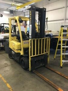 2009 Hyster Forklift 5 000 Lbs Warehouse Type S50ft