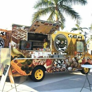 Kitchen On Wheels Used Food Truck With Commercial grade Kitchen Equipment For