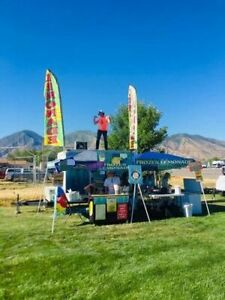 Turnkey Ready Mobile Lemonade Stand used Beverage Catering Trailer In Great Shap