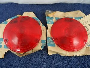 Nos Tail Light Lenses 1958 61 Dodge Truck Auto Lamp Chicago Power Wagon 1793865