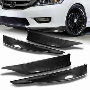 For 2013 2015 Honda Accord 4dr Hfp Carbon Look Front Rear Bumper Spoiler Lip