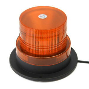 Car Bus Roof Emergency Flash Strobe Round Led Beacon Warning Light Magnetic Base