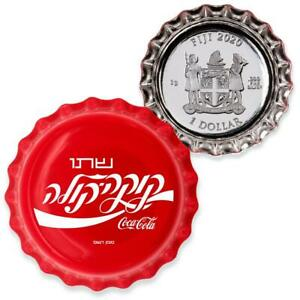 ISRAEL COCA-COLA BOTTLE CAP GLOBAL EDITION 2020 6 Gram $1 Pure Silver Coin FIJI