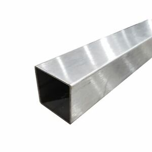 304 Stainless Steel Square Tube 5 8 X 5 8 X 0 049 X 48 Long polished