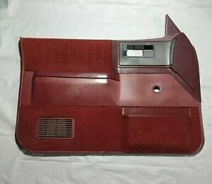 86 93 Chevy S 10 Gmc Sonoma Syclone Blazer Jimmy Manual Door Panel Red Driver Lh