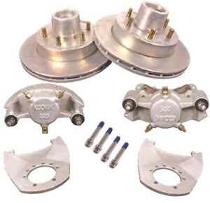 Kodiak 12 In Hydraulic Trailer Disc Brake Kit W Bearings Seals 1 Axle