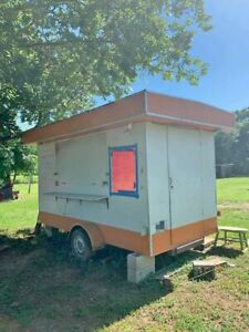Used Mobile Food Unit Food Concession Trailer In Good Working Condition For Sa