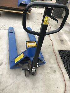 Pallet Jack With Digital Scale 5500 Lbs Capacity