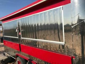 Stainless Steel Lightly Used Food Concession Trailer In Great Condition For Sale