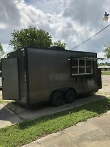 Briefly Used 2017 8 5 X 17 Red Fern Food Concession Trailer mobile Kitchen Uni