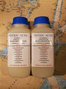 Dt Nitric 70 Acid Tw0 1 Liter 68oz High Purity Hno3 For Gold silver Refining