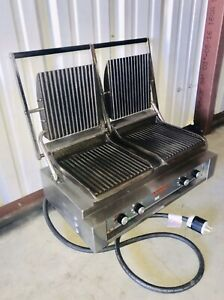 Lang Pane Bella Double Grill 220v Commercial Panini Press Tabletop Model Pb24g