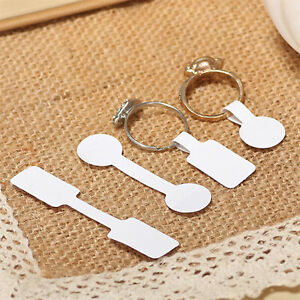 100cs Adhesive Sticker For Ring Necklace Jewelry Display Price Label Size Tags