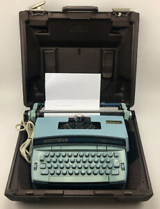 Smith Corona Coronet Super 12 Electric Typewriter Baby Blue Coronamatic Works