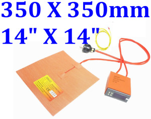 14 X 14 350 X 350mm 800w Cobblebot 3d Printer Heatbed Digital Control Plug Pad
