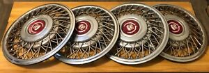 Cadillac Deville Fleetwood 91 92 93 15 Wire Spoke Hub Caps Wheel Covers Set 4